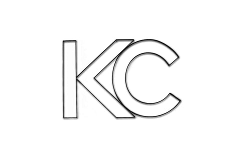 Front View of KC or Kansas City metal wall art and decor