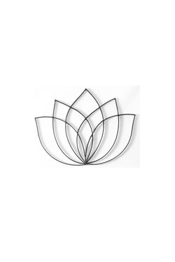 Front View of Lotus Flower metal wall art and decor