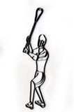 Lacrosse Player Metal Wall Decor