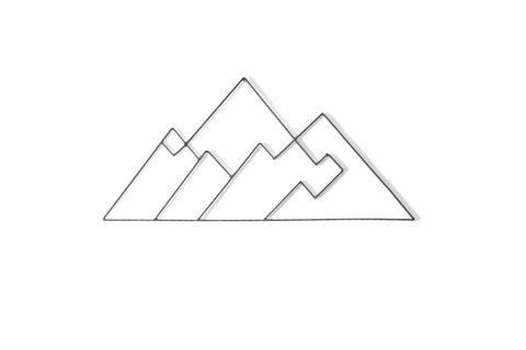 Mountains Metal Wall Decor