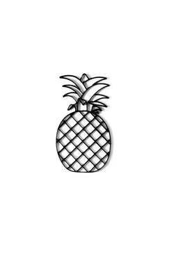 Pineapple metal wall art and decor or trivet