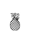 Front view of Pineapple metal wall art and decor or trivet