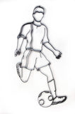 Soccer Player Metal Wall Decor