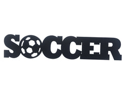 Soccer Word Metal Sign