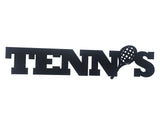 Tennis Word Metal Sign