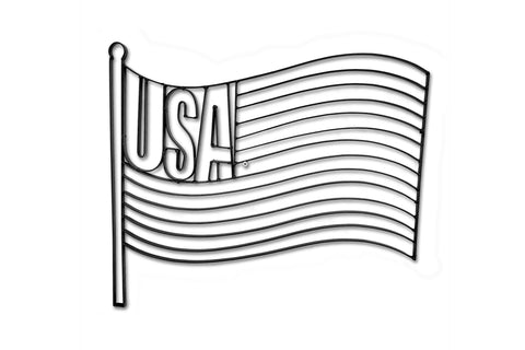 USA Flag Metal Wall Decor and Wall Art Sculpture