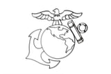 US Marine Symbol Metal Wall Decor