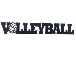 Volleyball Word Metal Sign