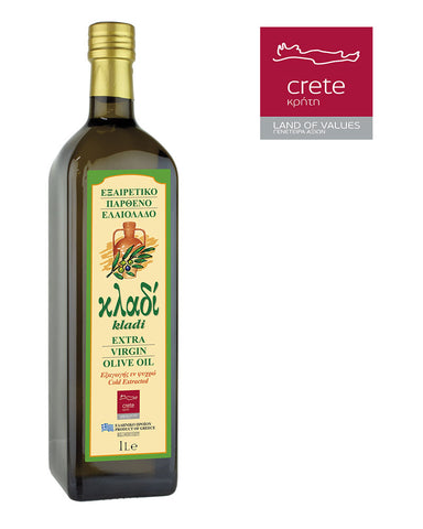 KLADI CRETAN EXTRA VIRGIN OLIVE OIL 1LT Glass