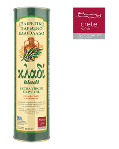 KLADI CRETAN EXTRA VIRGIN OLIVE OIL 1LT Tin