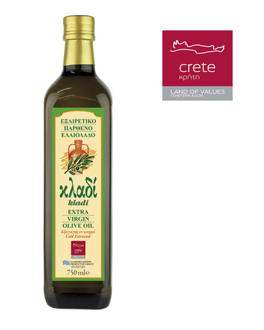 KLADI CRETAN EXTRA VIRGIN OLIVE OIL 750ML Glass
