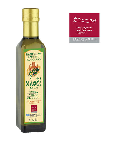 KLADI CRETAN EXTRA VIRGIN OLIVE OIL 250ML Glass