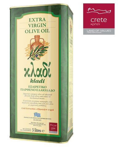 KLADI CRETAN EXTRA VIRGIN OLIVE OIL 5LT Tin