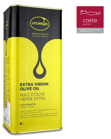 Image of LYCHNOS CRETAN EXTRA VIRGIN OLIVE OIL 5Lt Tin