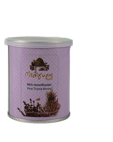 Image of Meligyris Greek Cretan Pine Thyme Honey 250gr Tin Jar - GreekFoody