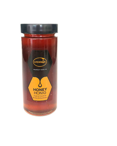 Lychnos Greek Cretan Oak & Chestnut Honey 400gr Glass Jar