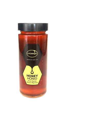 Lychnos Greek Pine Thyme Honey 400gr Glass Jar