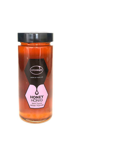 Lychnos Greek Cretan White Thyme Honey 400gr Glass Jar