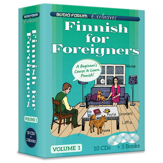 Finnish for Foreigners 1 (10 CDs/Books)