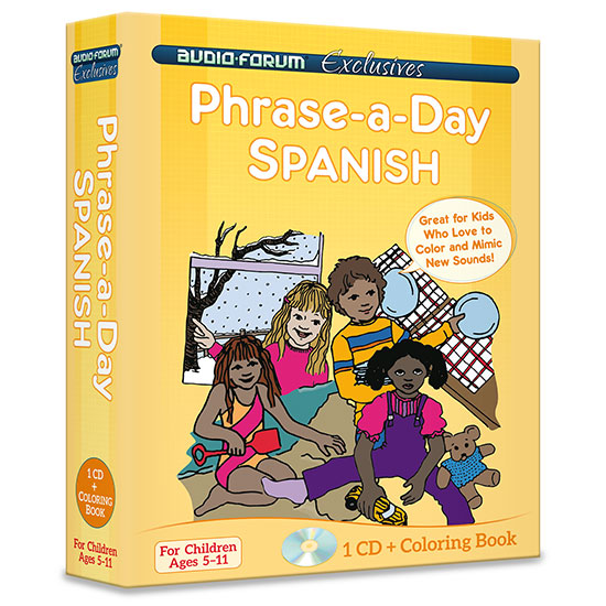 Phrase-a-day Spanish (CD/Coloring Book)