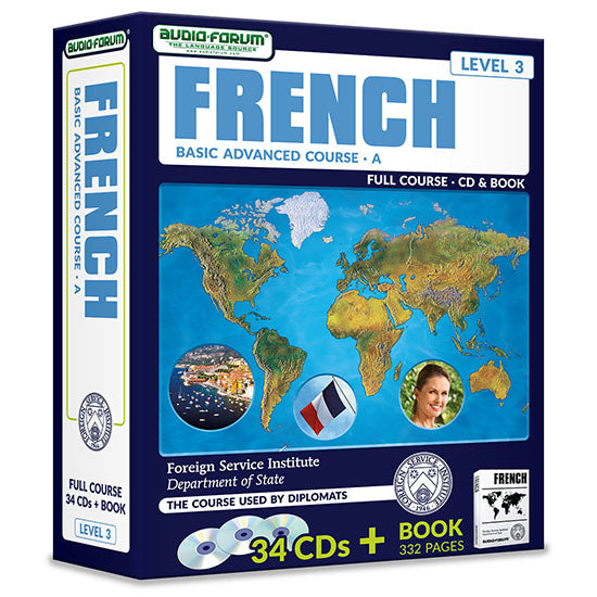 FSI: Basic French Advanced A (34 CDs/Book)