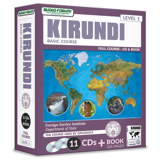 FSI: Basic Kirundi (11 CDs/Book)