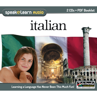 Speak & Learn Italian (Audio Download)