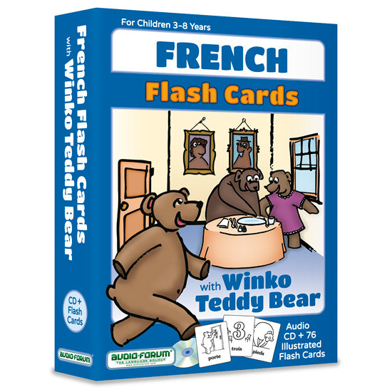 French Flash Cards with Winko Teddy Bear  (CD/Flash Cards)