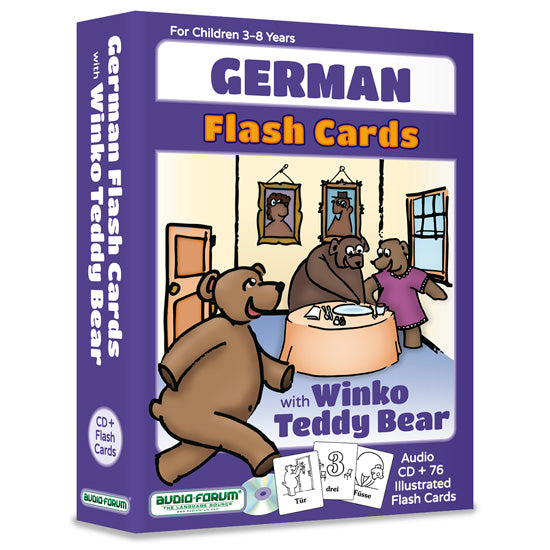 German Flash Cards with Winko Teddy Bear (CD/Flash Cards)