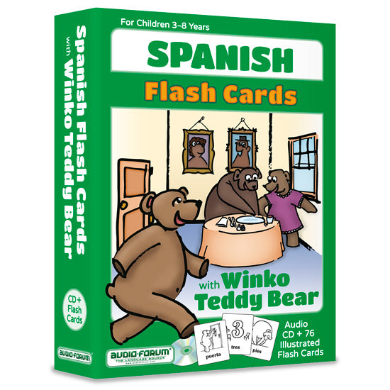Spanish Flash Cards with Winko Teddy Bear (CD/Flash Cards)