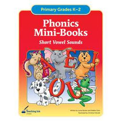 Phonics Mini Books - Short Vowel Sounds (Gr. K-2) - PDF DOWNLOAD