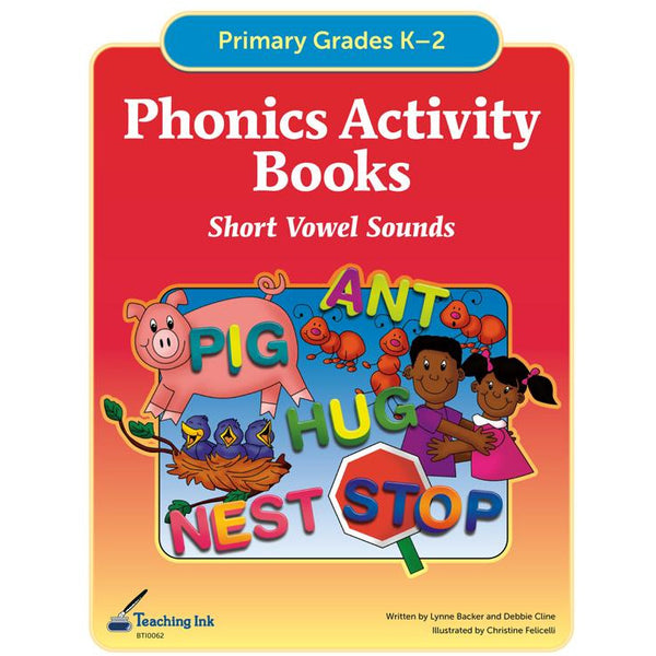 Phonics Activity Books - Short Vowels (Gr. K-2) - PDF DOWNLOAD