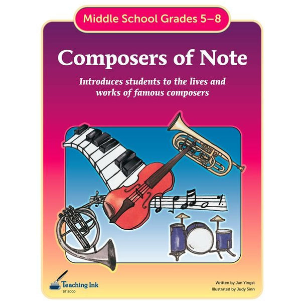 Composers of Note (Gr.5-8)- PDF DOWNLOAD