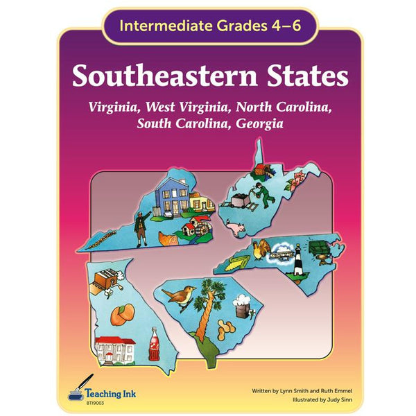 US Geography - Southeastern States Region (Gr. 4-6) - PDF DOWNLOAD