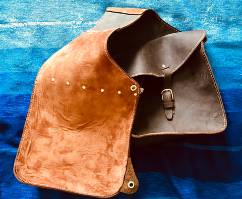 Saddle bags - suede lining