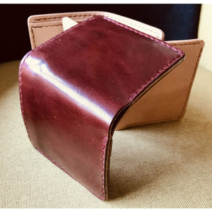 Hand made Veg Tanned Leather Classic Bi-Fold Wallet