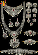 Load image into Gallery viewer, Rhodium or Two Tone Bridal Set - Prasad Novelties