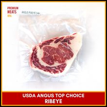 Load image into Gallery viewer, USDA Top Choice Angus Ribeye (3/4 in. thick)