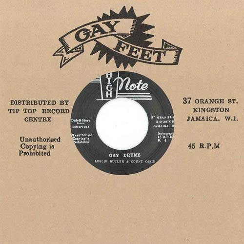 Leslie Butler & Count Ossie - Gay Drums // Ken Boothe - Lady With The Starlight - 7""