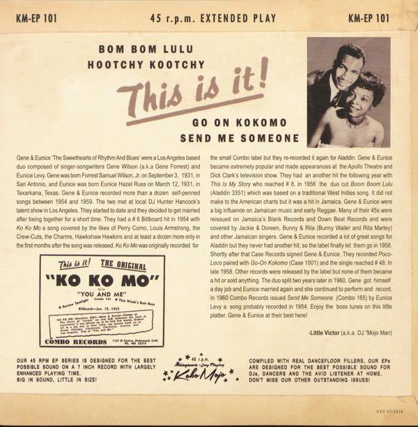 GENE and EUNICE - This Is It! - 7inch 4-track EP backsleeve
