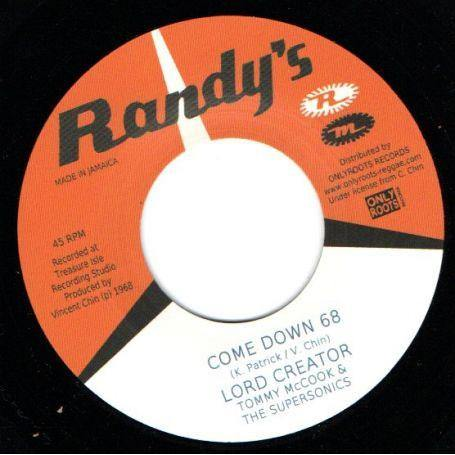 LORD CREATOR -  Come Down '68 - 7inch