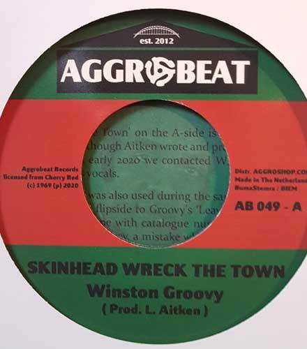 WINSTON GROOVY - Skinhead Wreck The Town // LAUREL AITKEN - Moon Rock - 7inch