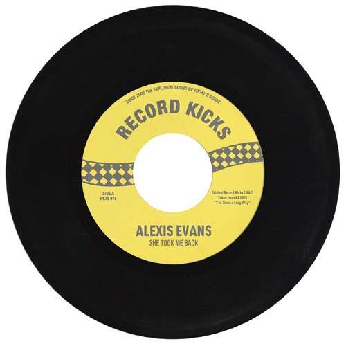 Alexis Evans - She Took Me Back // It's All Over Now - 7""