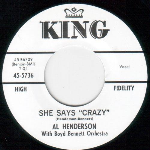 AL HENDERSON - SHE SAYS CRAZY // LAUGHING GIRL, CRYING BOY - 7""