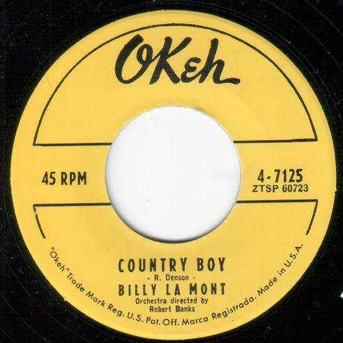 Billy Lamont - Country Boy // Can't Make It By Myself - 7""