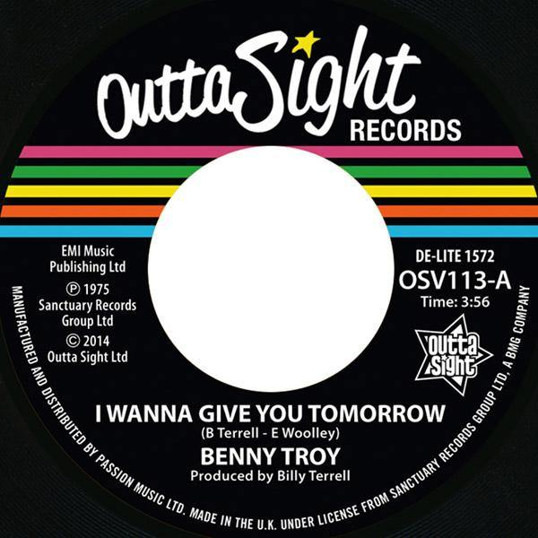 Benny Troy - I Wanna Give You Tomorrow // Disco Version - 7""
