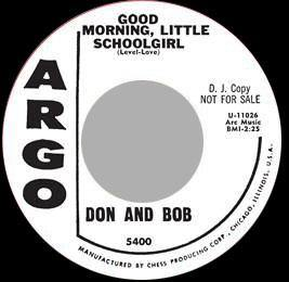 Kents - I Found My Girl // Don & Bob - Good Morning Little Schoolgirl  - 7""