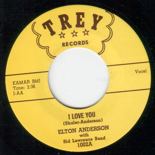Elton Anderson - I Love You - 7""