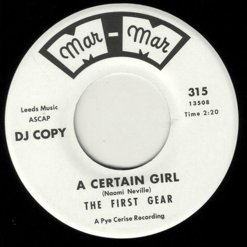 The First Gear - A Certain Girl - 7""