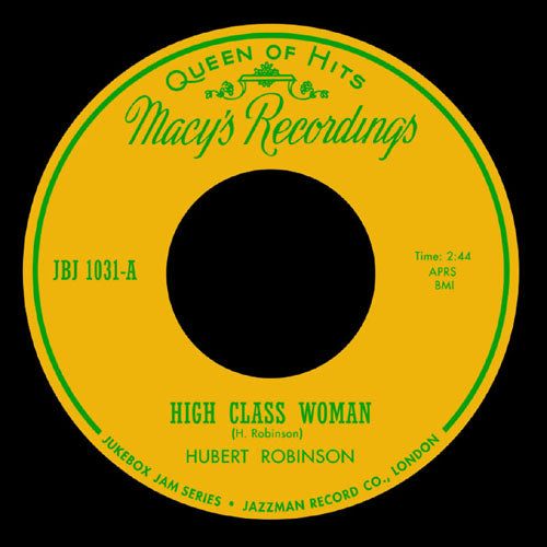 Hubert Robinson - High Class Woman // Old Woman Boogie - 7""